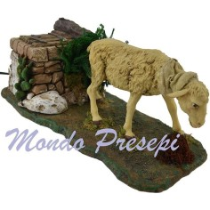 Sheep moving to statues, 30 cm h.