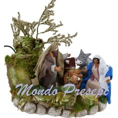 The nativity cm 10 terracotta dressed