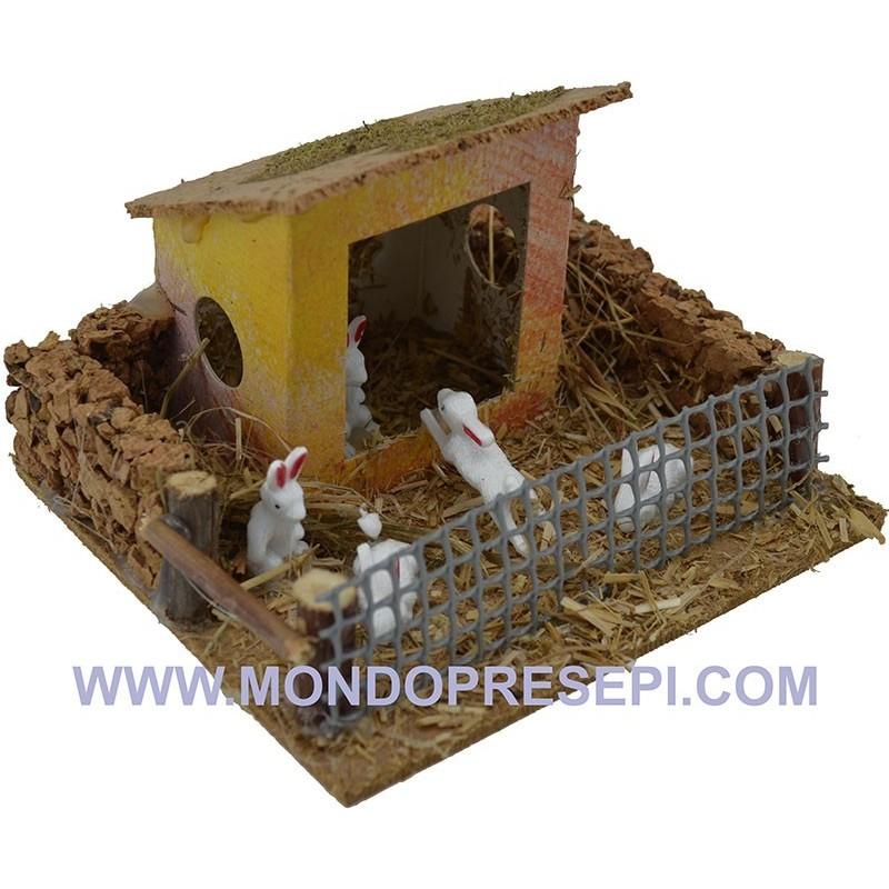 Mondo Presepi Conigliera con casetta - Cod. AA06