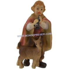 Mondo Presepi Cm 5 Bambino che suona con capra