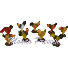 Set 2 uccelli in resina cm 2