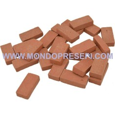 Bricks, terracotta-mm 30x0,7x15 available in  - 1