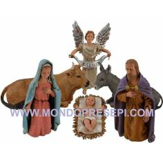 "Cm 12 "" Nativity set 6 pieces Landi moranduzzo  - 1"