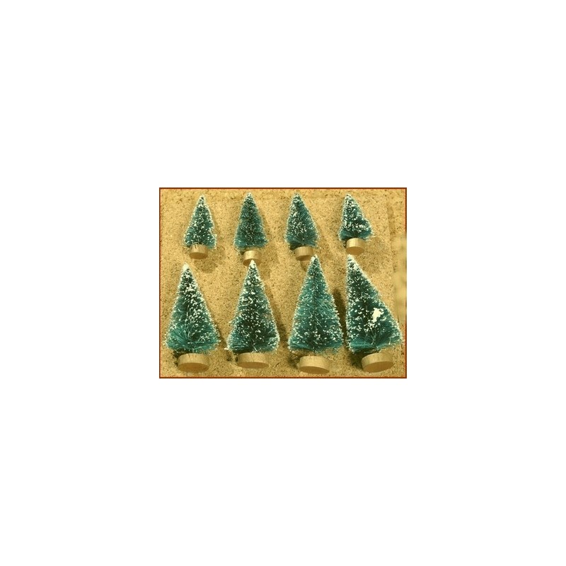 Set of 8 pine trees 8 and 4 cm - Cod. PPM01