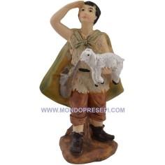 Mondo Presepi Cm 9 pastore con agnello