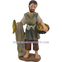 Mondo Presepi Cm 9 Pescatore con pesci