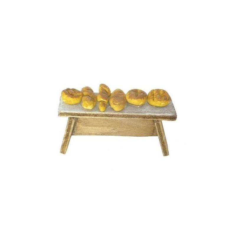 Mondo Presepi Tavolino con pane - 33655