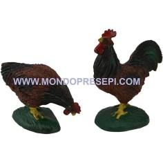 Mondo Presepi Gallo e gallina per statue cm 15