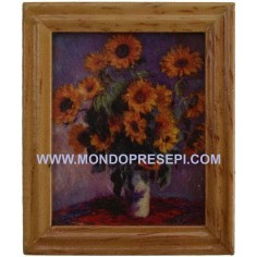Picture with sunflowers-4,8x5,8 cm  - 1
