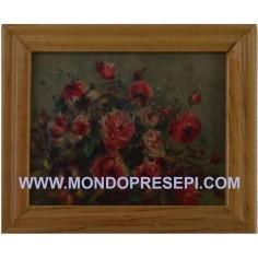 Mondo Presepi Quadro con fiori 5,8x4,8 cm