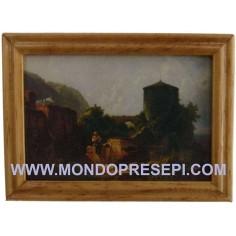 Quadro con paesaggio 7x5,2 cm
