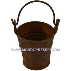 Bucket 2,7 cm rusty metal  - 2