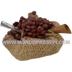 Basket jute bottom with chestnuts  - 1