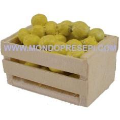 Mondo Presepi Cassetta con limoni 4x2,5x2 h.