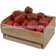 Mondo Presepi Cassetta con mele 4x3x2,5 h.