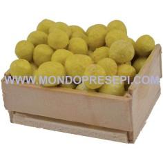 Mondo Presepi Cassetta con limoni 4x3x2,5 h.