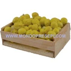 Cassetta con limoni cm 5,5x4x2,5 h. Mondo Presepi