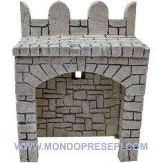 Fondaco in resina con pietre cm 13x9x17 h. per mura castello