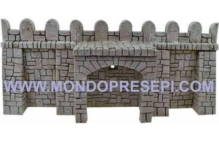 Mondo Presepi Fondaco in resina con pietre cm 13x9x17 h.