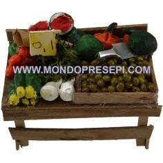 Mondo Presepi Banco frutta e verdura cm 9,5x6x5,5 h.