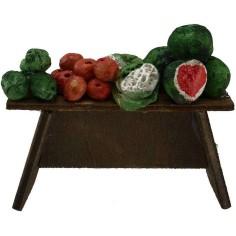 Banco frutta presepe cm 8x2,5x4 h. -Articoli per presepe