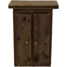 Armadio in legno cm 4x2x8 h. Mondo Presepi