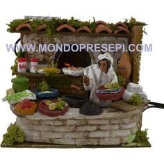 Mondo Presepi Cuoco con forno funzionante cm 10-11