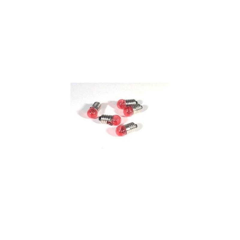 Envelope 5 red bulbs att. E10 - Cod. L10R