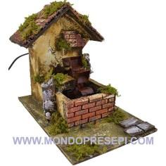 Watermill for nativity scene cm 27x17x23 h.
