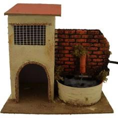Casa con fontana funzionante cm 19x13,5x18 h.  - 1