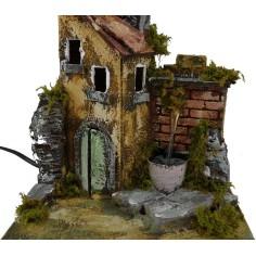 Mondo Presepi Casa con fontana funzionante cm20x17x21 h.