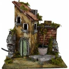 Mondo Presepi Casa presepe con fontana funzionante cm 20x17x21