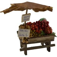 Banco con frutta e verdura cm 8,5x5,5x11 h.