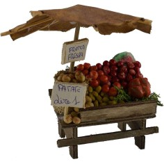 Mondo Presepi Banco con frutta e verdura cm 8,5x5,5x11 h.