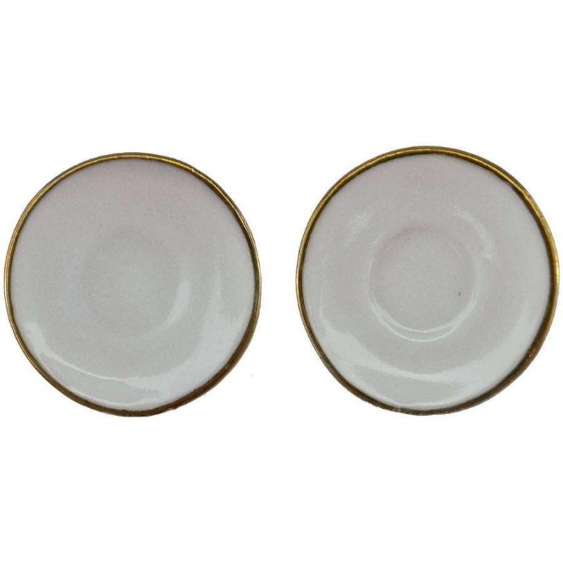 Set 2 piatti in porcellana Ø 1,6 cm