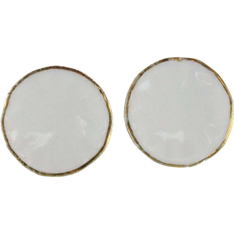 Set 2 piatti in porcellana Ø 2,2 cm