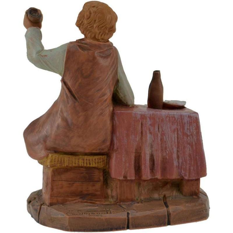 Uomo seduto al tavolo 12 cm Fontanini