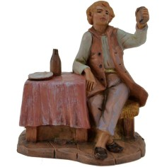 The man sitting at the table, 12 cm Fontanini