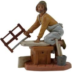 Mondo Presepi Falegname con segna 12 cm Fontanini -statue