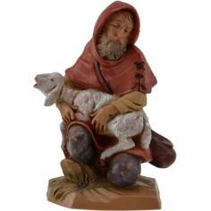 Pastore seduto con pecora 12 cm Fontanini  - 1