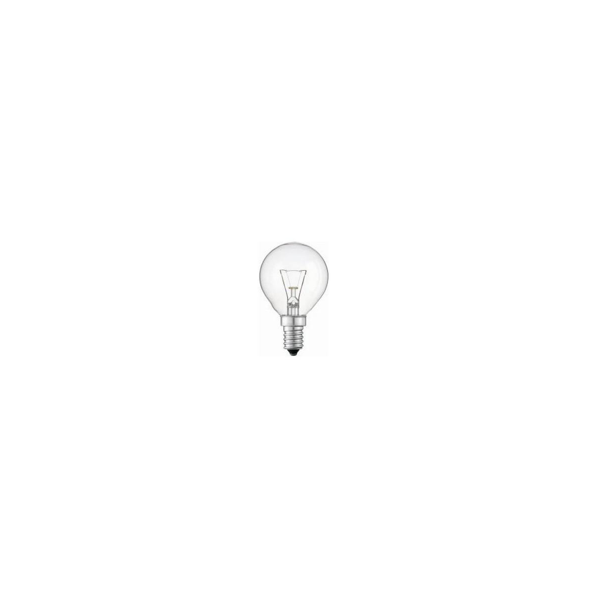 Lampada trasparente attacco E14 25w