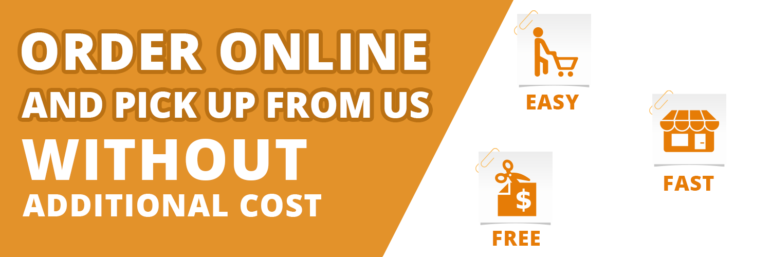 ORDER ONLINE AND PICK UP FROM US WITHOUT COST